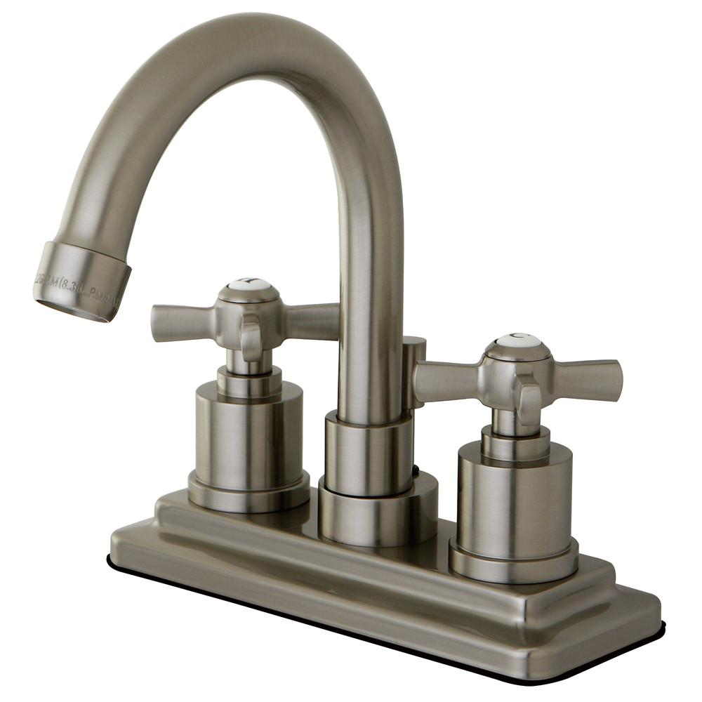 "Kingston Brass KS8668ZX 4"" Centerset Bathroom Faucet Satin Nickel"