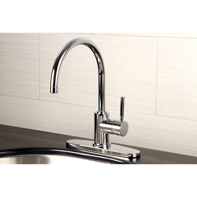 Kingston Brass Concord Chrome Single Handle Kitchen Faucet KS8711DLLS