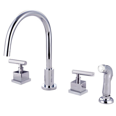 Claremont Chrome Widespread Kitchen Faucet Matching Plastic Sprayer KS8721CQL