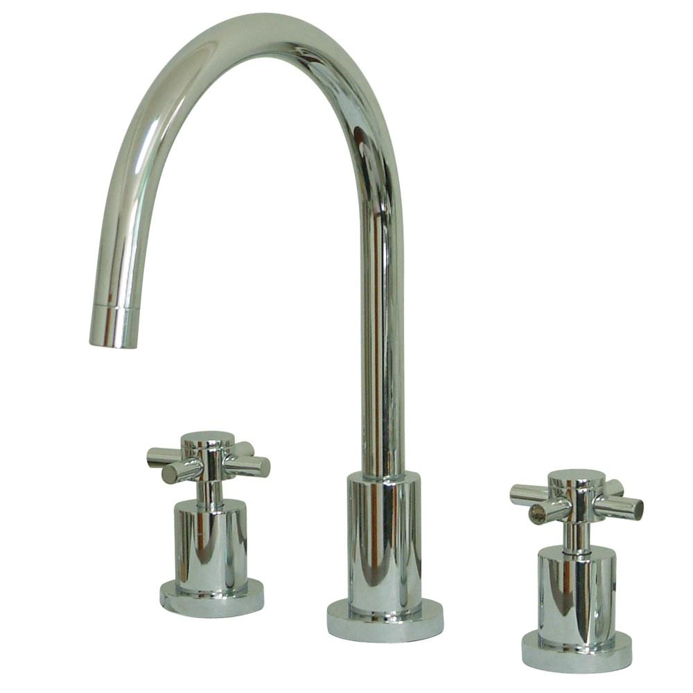 Kingston Brass Concord Chrome Two Handle Widespread Kitchen Faucet KS8721DXLS