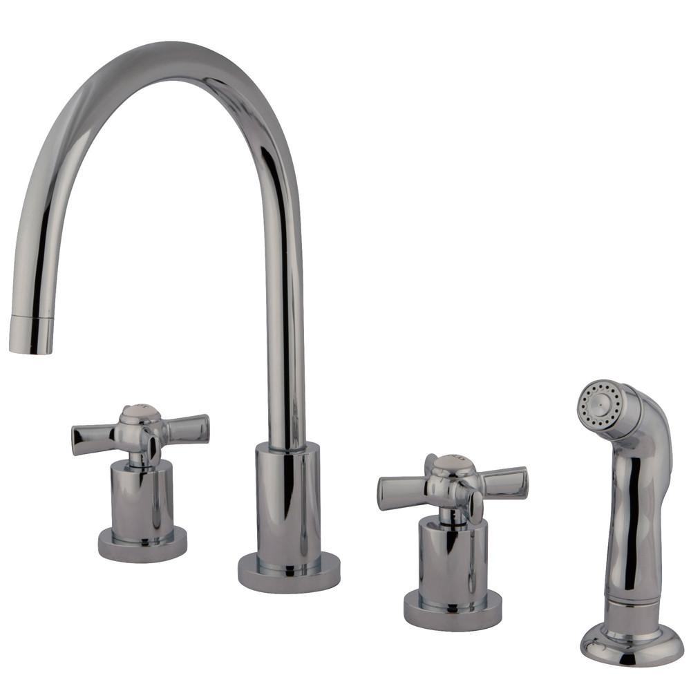 Kingston Brass KS8721ZX Widespread Kitchen Faucet Polished Chrome
