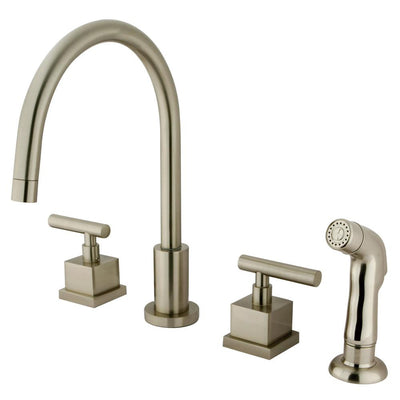 Claremont Satin Nickel Widespread Kitchen Faucet Matching Sprayer KS8728CQL