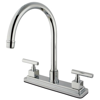 "Kingston Brass Claremont Chrome Two handle 8"" Kitchen Faucet KS8791CQLLS"