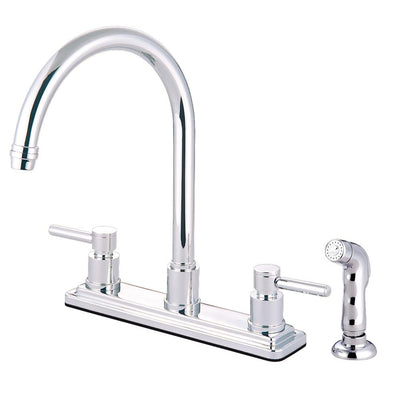 Kingston Brass Concord Chrome 2 Handle Kitchen Faucet Matching Sprayer KS8791DL