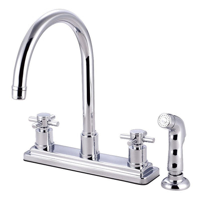 Kingston Brass Concord Chrome 2 Handle Kitchen Faucet Matching Sprayer KS8791DX