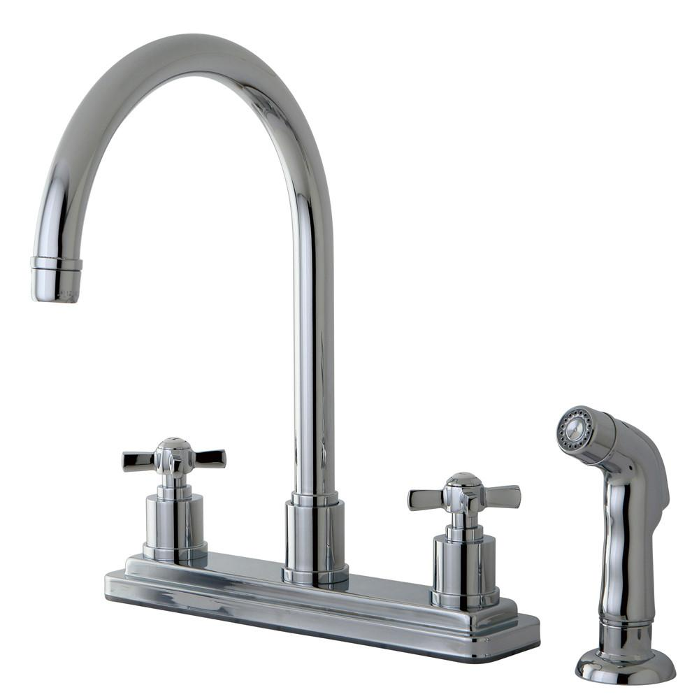 "Kingston Brass KS8791ZX 8"" Centerset Kitchen Faucet Polished Chrome"