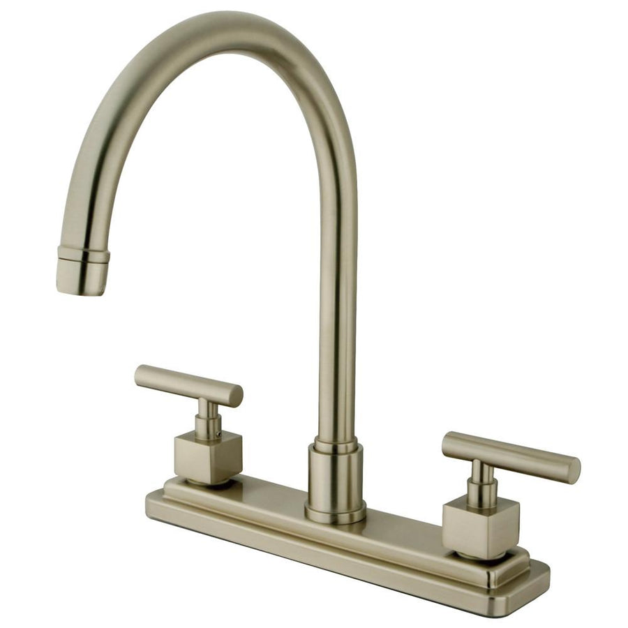 kitchen faucets get a modern or traditional kitchen sink faucet kingston brass claremont satin nickel two handle 8