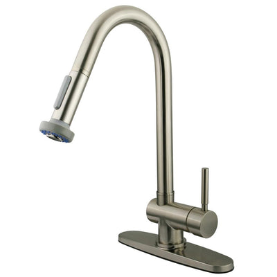 Kingston Concord Satin Nickel 1 Handle Pull-Down Spray Kitchen Faucet KS8888DL