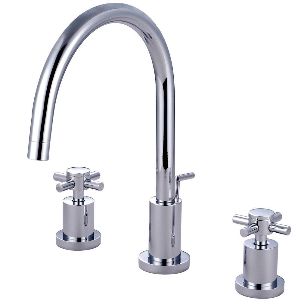 Kingston Concord Chrome 2 Handle Widespread Bathroom Faucet w/ drain KS8921DX