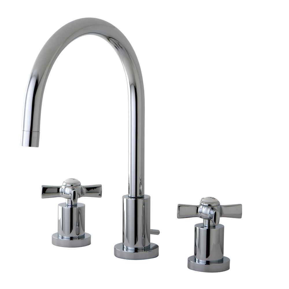 Kingston Brass KS8921ZX Widespread Bathroom Faucet Polished Chrome