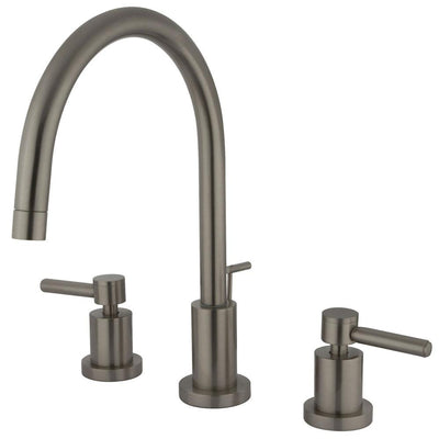 Kingston Brass Concord Satin Nickel 2 Handle Widespread Bathroom Faucet KS8928DL