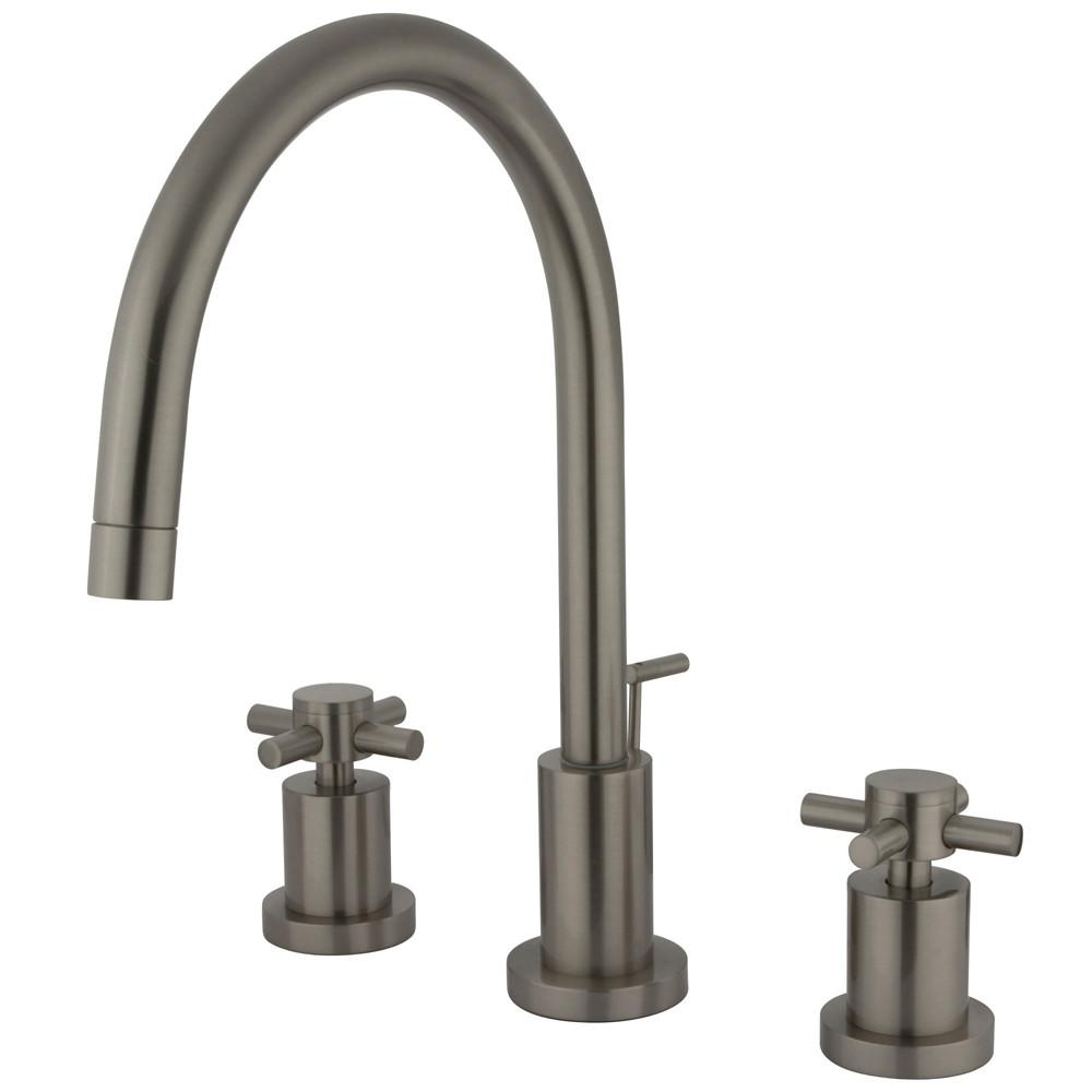 Kingston Brass Concord Satin Nickel 2 Handle Widespread Bathroom Faucet KS8928DX