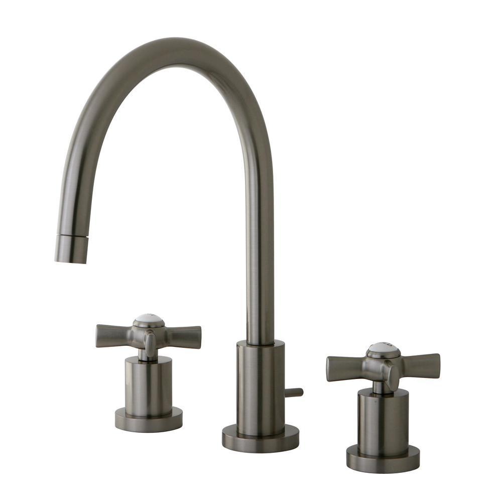 Kingston Brass KS8928ZX Widespread Bathroom Faucet Satin Nickel