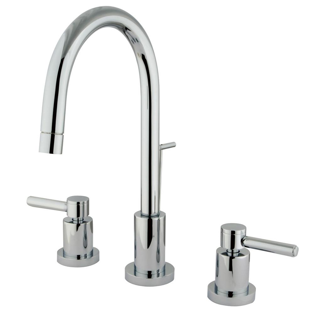 Kingston Brass Concord Chrome 2 Handle Mini Widespread Bathroom Faucet KS8951DL
