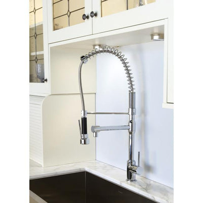 Kingston Brass Concord Chrome Single Handle Kitchen Faucet KS8971DL