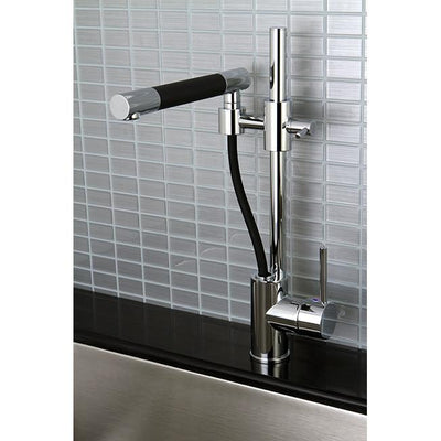 Kingston Brass Concord Chrome Single Handle Kitchen Faucet KS8981DKL