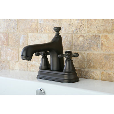 "Kingston Oil Rubbed Bronze 2 Handle 4"" Centerset Bathroom Faucet KS9615AX"