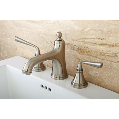 Kingston Silver Sage Satin Nickel Widespread Bathroom Lavatory Faucet KS9968ZL