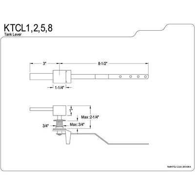 Kingston Brass Claremont Chrome Claremont Toilet Tank Flush Lever KTCL1