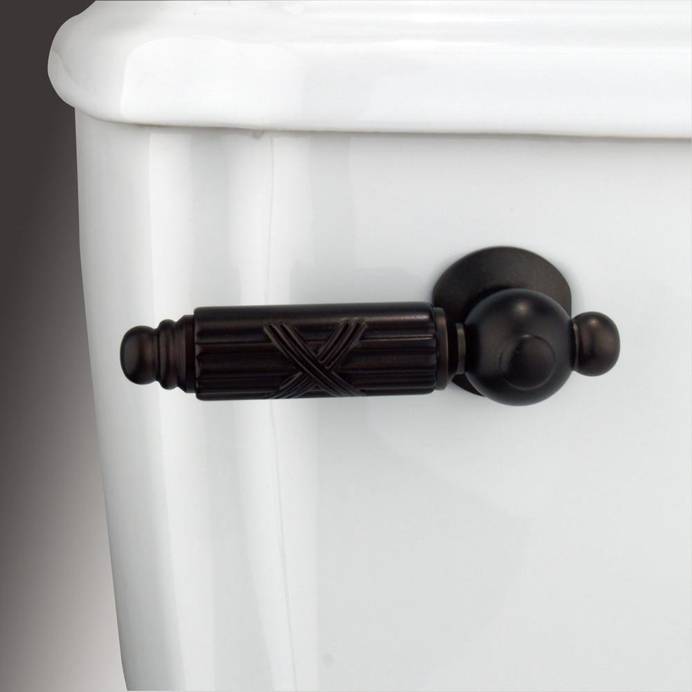 Kingston Brass Oil Rubbed Bronze Georgian toilet tank flush handle lever KTGL5