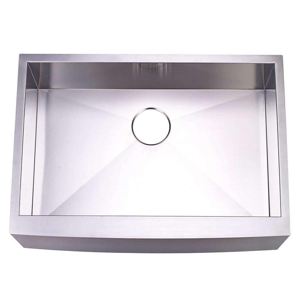 Brushed Nickel Single Bowl Farmhouse Undermount Kitchen Sink KUF302110BN