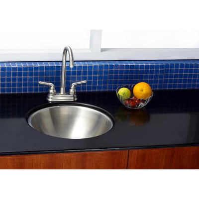 Kingston Brushed Nickel Single Bowl Round Undermount Kitchen Sink KUR16167BN