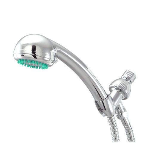 Kingston Chrome 3 Setting Adjustable Hand Shower w/ Stainless Steel Hose KX0132B