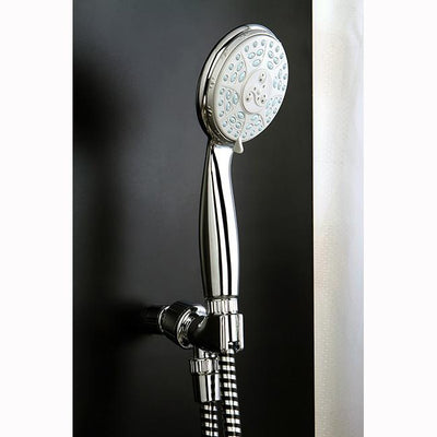 Kingston Brass Chrome 4 Function Handheld Shower Head Spray with Hose KX2101