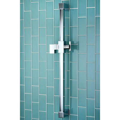"Kingston Brass Chrome 23.6"" Square Shower Slide Bar KX8241"