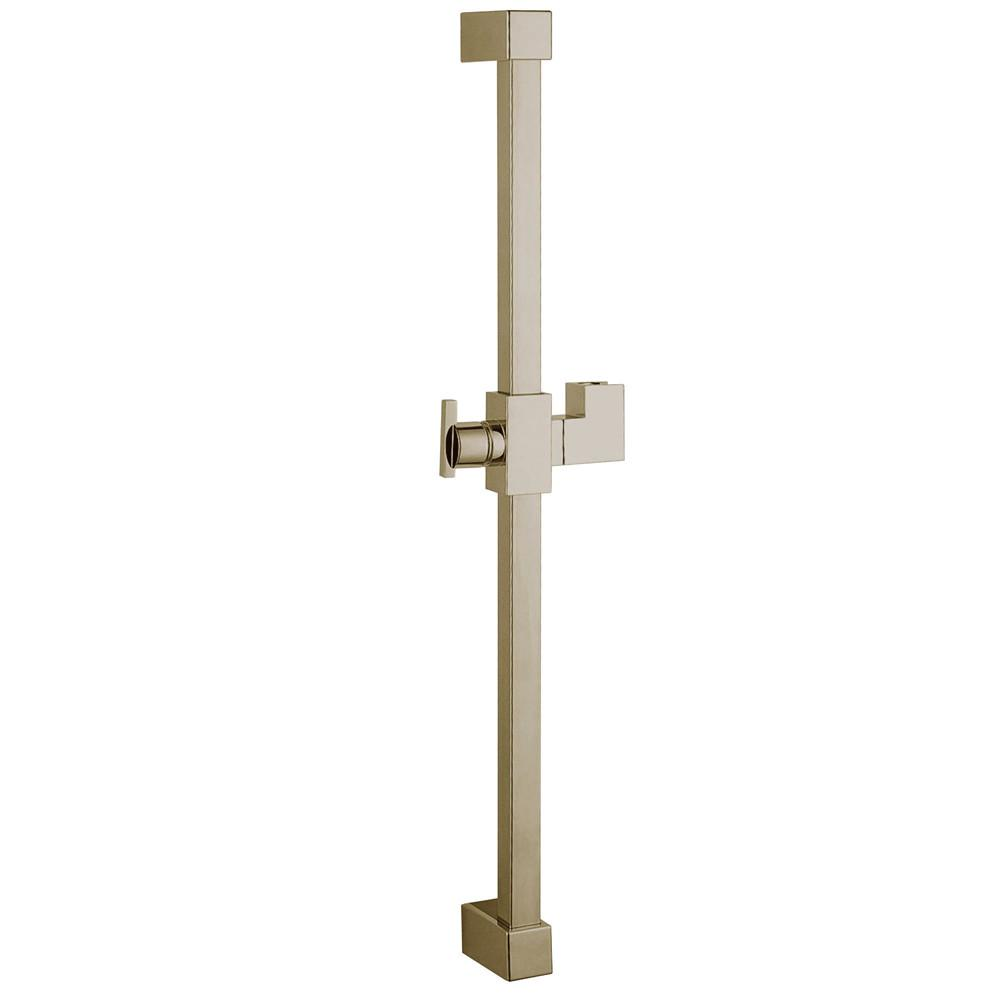 "Kingston Brass Satin Nickel 23.6"" Square Shower Slide Bar KX8248"
