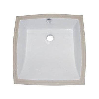 Kingston Cove White China Undermount Bathroom Sink with Overflow Hole LB18187