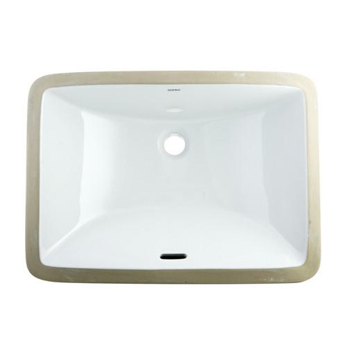 Kingston White Bath Cove White China Rectangle Undermount Bathroom Sink LB19136