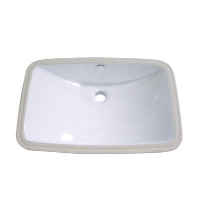 Kingston Forum White China Undermount Bathroom Sink with Overflow Hole LB24157
