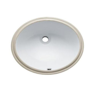 Kingston Marina White China Undermount Bathroom Sink with Overflow Hole LBO20168