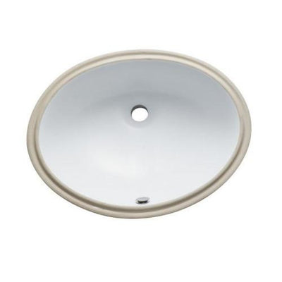 Courtyard White China Undermount Bathroom Sink with Overflow Hole LBO22178