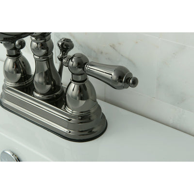 Kingston Water Onyx Black Nickel finish Centerset Bathroom Sink ...