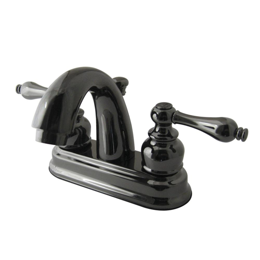 Kingston Water Onyx Black Nickel finish Centerset Bathroom Sink Faucet NB5610AL