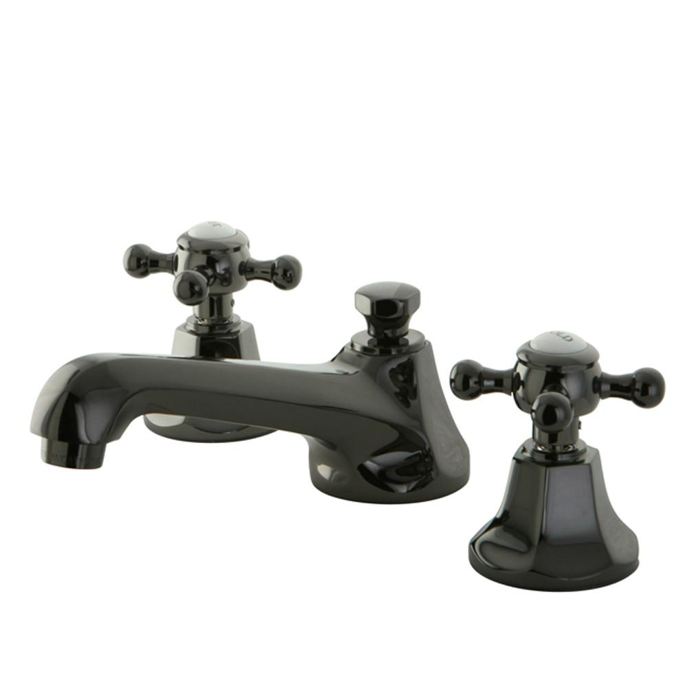 Kingston Water Onyx Black Nickel finish Widespread Bathroom Sink Faucet NS4460BX