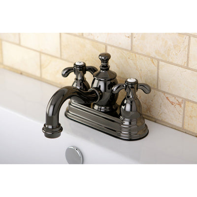Kingston Water Onyx Black Nickel finish Centerset Bathroom Sink Faucet NS7100TX