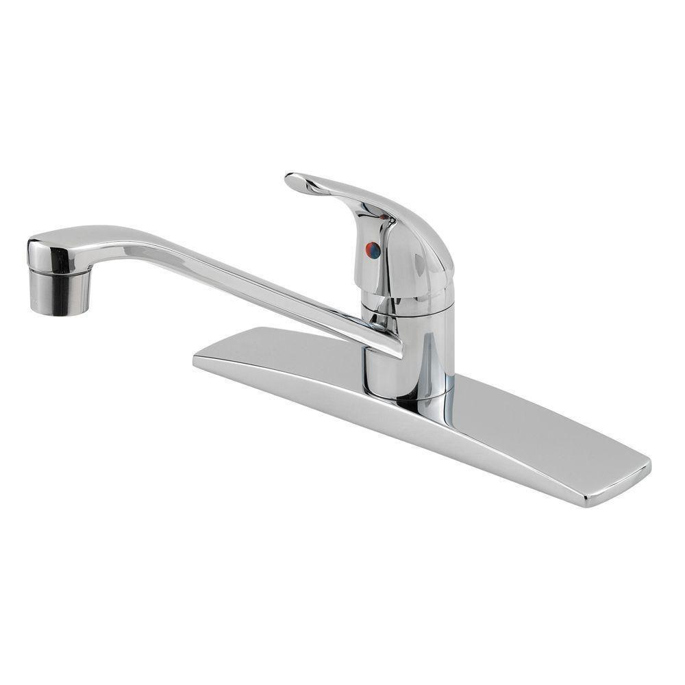 Price Pfister Pfirst Series 1-Handle Kitchen Faucet in Polished Chrome 475715