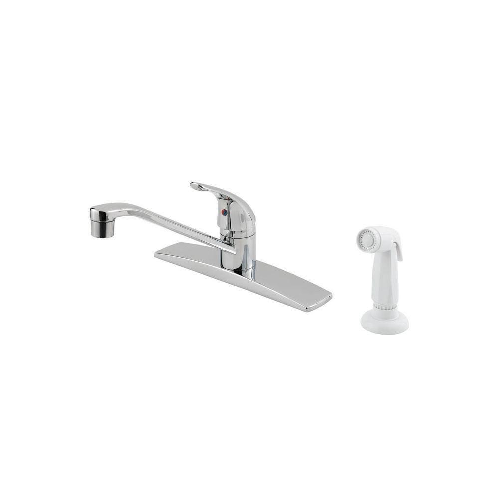 Price Pfister Pfirst Series Single-Handle Side Sprayer Kitchen Faucet in Polished Chrome 475717