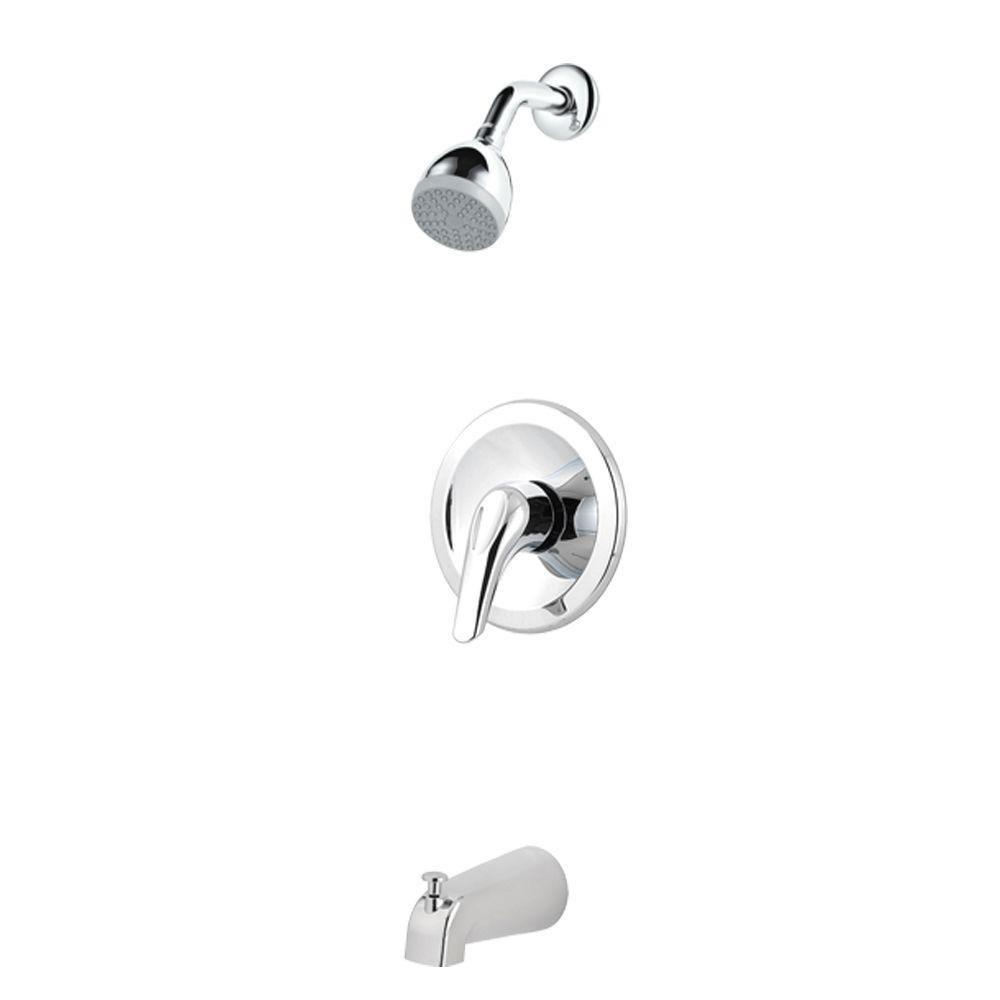 Price Pfister Pfirst Series 1-Handle Tub and Shower Faucet Trim Kit in Polished Chrome (Valve Not Included) 475731