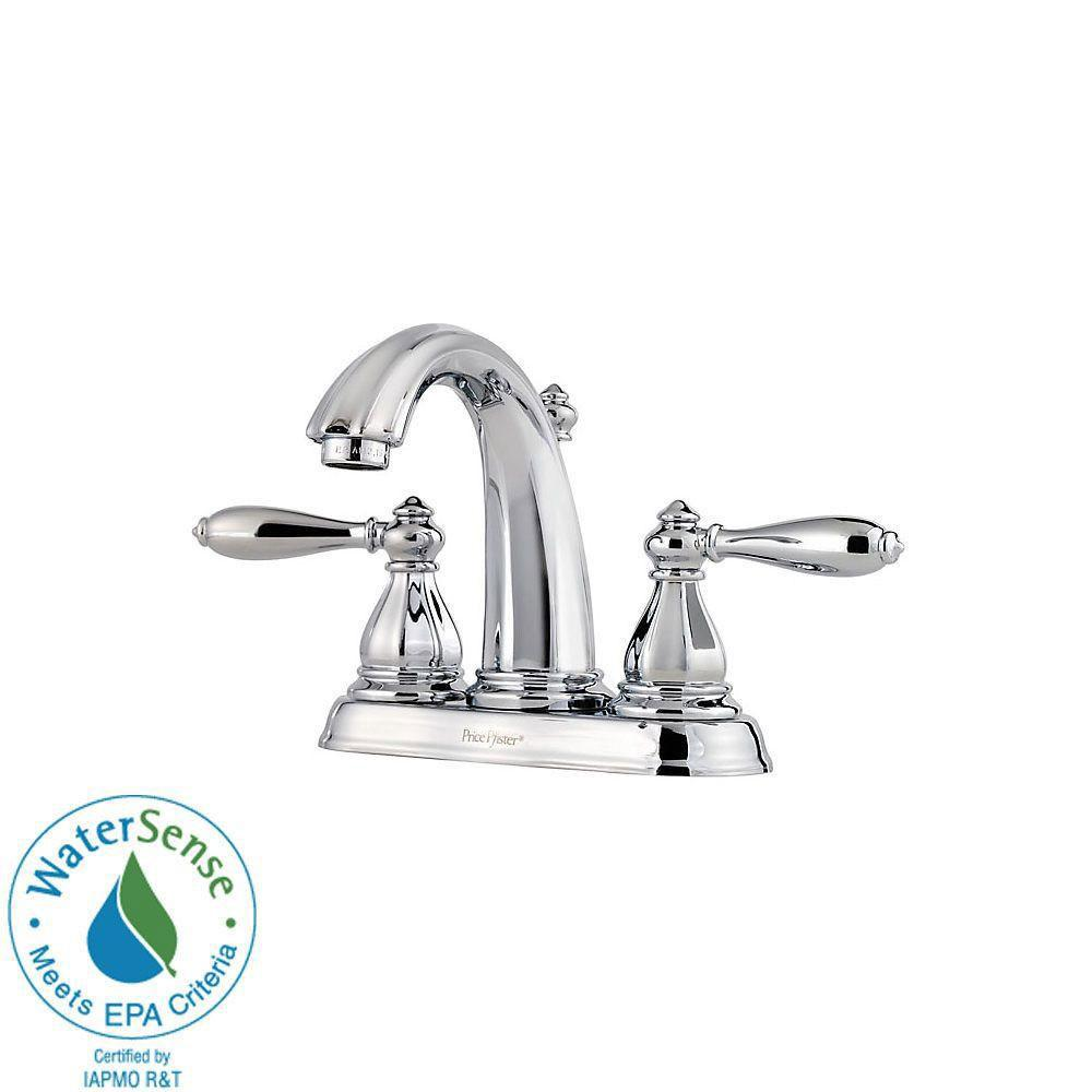 Price Pfister Portola 4 Inch Centerset 2 Handle Bathroom Faucet In