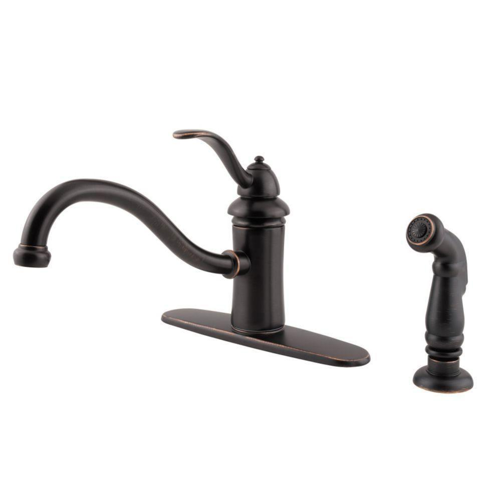 Price Pfister Tuscan Bronze Marielle Single-Handle Kitchen Faucet 519858