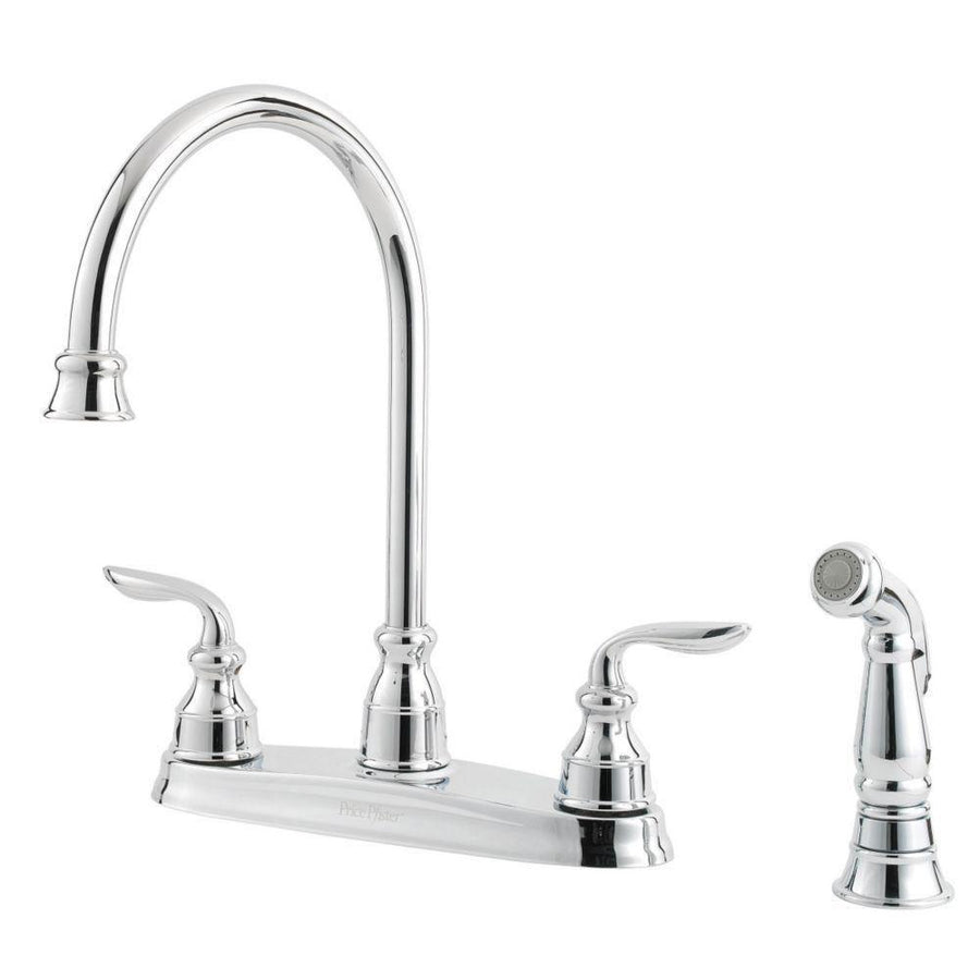 price pfister price pfister kitchen faucets Price Pfister Avalon 2 Handle Kitchen Faucet in Polished Chrome