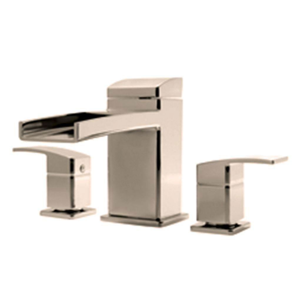 Price Pfister Kenzo 2-Handle Deck Mount Roman Tub Faucet Trim Kit in Brushed Nickel (Valve Not Included) 534636
