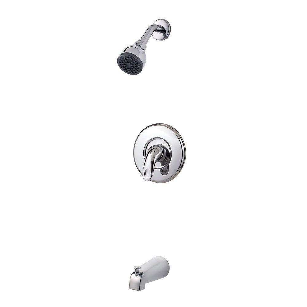 Price Pfister Serrano 1-Handle Tub and Shower Faucet Trim Kit in Polished Chrome (Valve Not Included) 534738