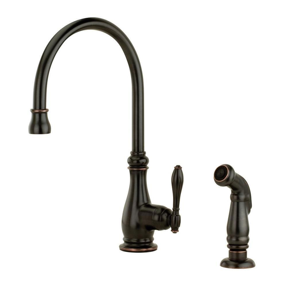 Price Pfister Alina Single-Handle Side Sprayer Kitchen Faucet in Tuscan Bronze 544361