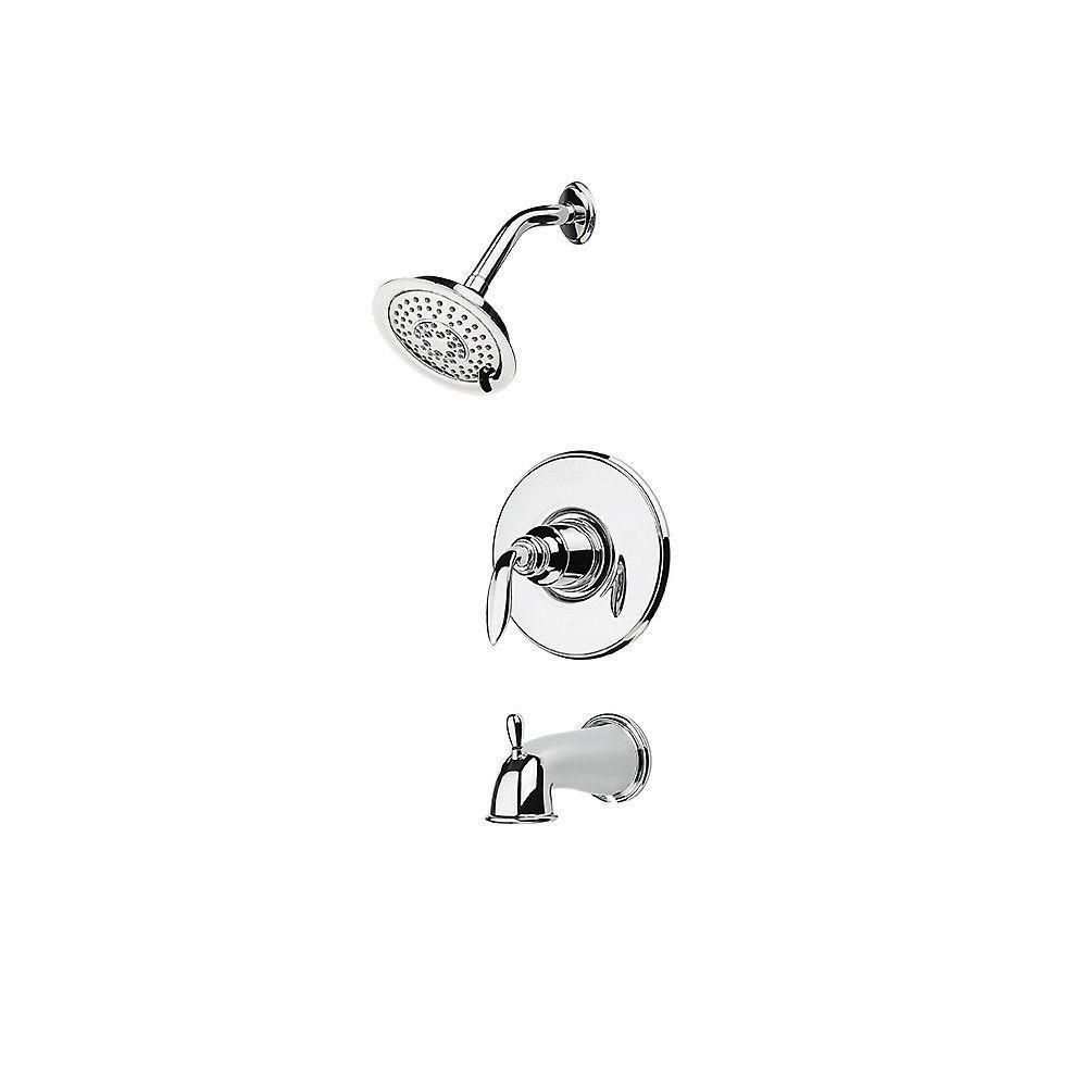 Price Pfister Avalon 1-Handle Tub and Shower Faucet Trim Kit in Polished Chrome (Valve Not Included) 635169