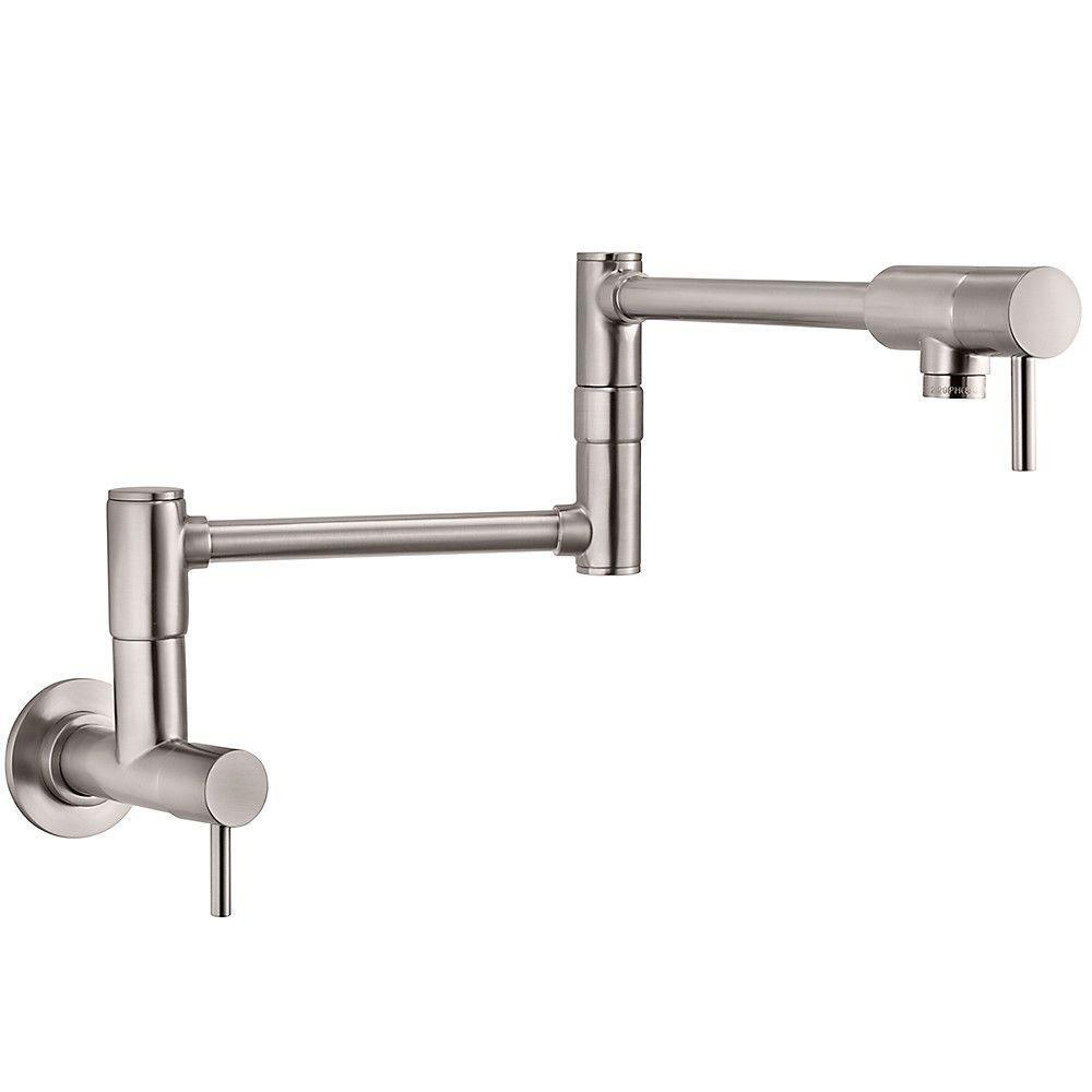 Price Pfister Lita Modern Wall Mounted Potfiller in Stainless Steel 642763